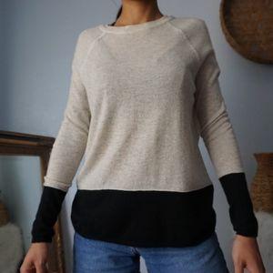 Vince Cashmere Color-block Soft Sweater XS